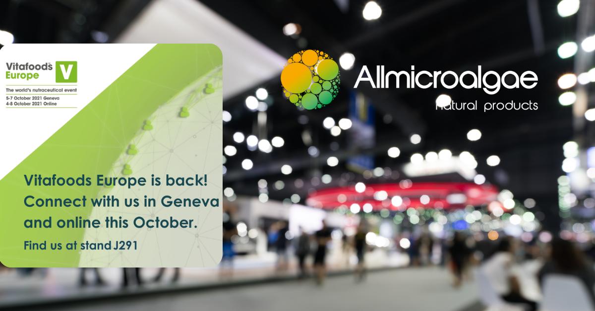 Allmicroalgae: superalimentos ancestrais atendem à procura moderna (Vitafoods Expo 2021)